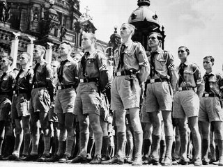 Hitler Youth at a Nazi Rally (1936)