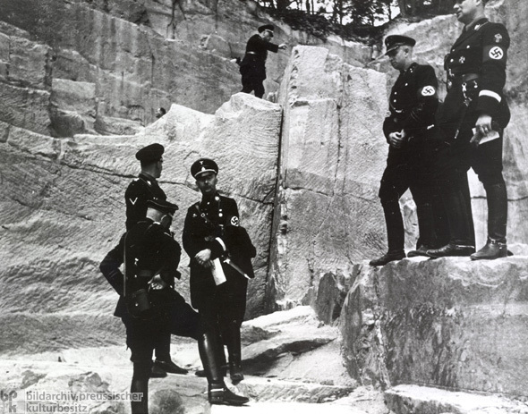 Himmler Views Ancient Runes at Palatinate Quarry, 1935