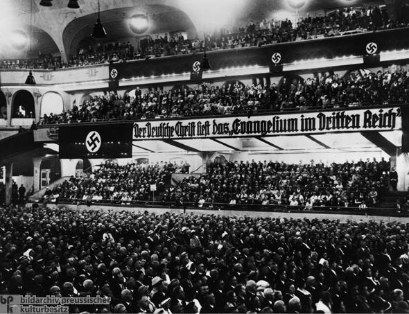 Reich Conference of German Christians (<em>Deutsche Christen</em>) at the <em>Sportpalast</em> in Berlin