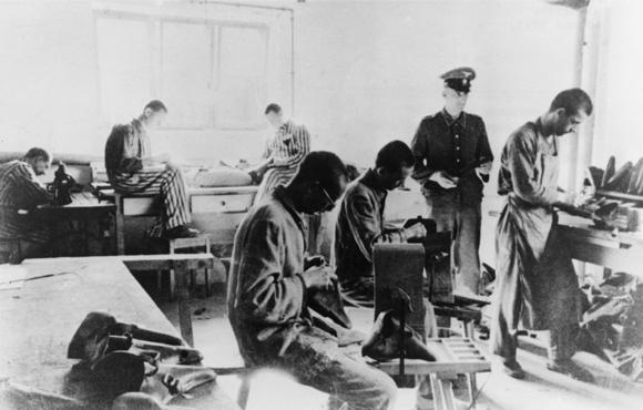 Dachau Prisoners Working as Forced Laborers (1943)